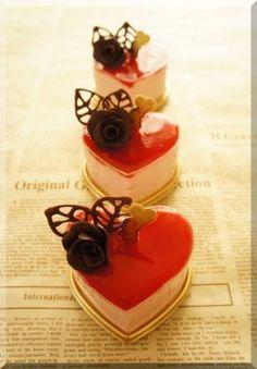 「【バレンタイン】ハートのチーズケーキ♪」cherry♪ | お菓子・パンのレシピや作り方【corecle*コレクル】