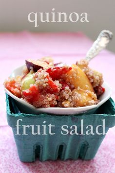 Quinoa fruit salad...I have no idea what quinoa is, but I aim to find out!