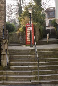 Steps and Telephone Box - Falmouth
