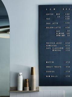 Design Restaurant Bar Signage New Ideas Design Shop, Café Design, Coffee Shop Design, Home Design, Shop Board Design, Design Color, Design Elements, Design Ideas, Villa Design