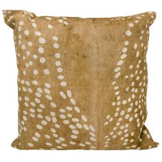Found it at Wayfair - Natural Leather Hide Throw Pillow