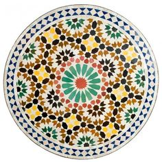 Mosaikbord Stachri - Marocko Bazar Decorative Plates, Tableware, Kitchen, Diy, Home Decor, Mosaic, Dinnerware, Cuisine, Bricolage