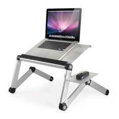 Furinno Ergonomics Adjustable Laptop Cart Color: Silver