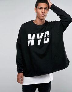 Our Work Part! ASOS Extreme Oversized Sweatshirt With NYC Print