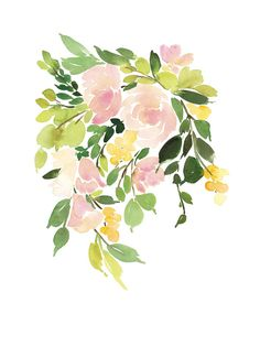 Flora in Peach I by Yao Cheng for Minted