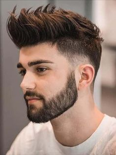 Beard Styles 670966044467796771 - It's easy to understand why short haircuts for men are arguably the most sought-after in the industry. Let's be honest – they look remarkable and they complement masculine features well! Source by menhairstylesworld Mens Hairstyles With Beard, Cool Hairstyles For Men, Elegant Hairstyles, Haircuts For Men, Formal Hairstyles, Hairstyle Ideas, Pompadour Hairstyle For Men, Men Hairstyle Short, Hipster Hairstyles Men