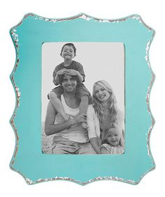 Take a look at the Aqua Distressed 11'' x 14'' Picture Frame on #zulily today!