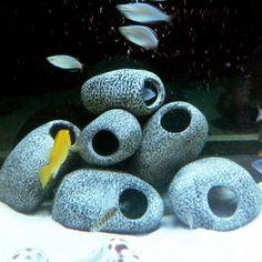 Decorations Hot Sale Ceramic Rock Cave Ornament Stones For Fish Tank Filtration Aquarium Dsu & Garden Cichlid Aquarium, Diy Aquarium, Aquarium Rocks, Aquarium Fish Tank, Planted Aquarium, Fish Tanks, Aquarium Ideas, Cichlid Fish, Fish Tank Accessories