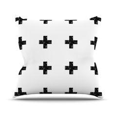 26 by 26 Kess InHouse Skye Zambrana Flight Pattern Pink Gray Throw Pillow
