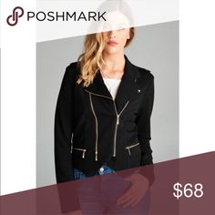 ‼️LAST2 NWT WILA Black Moto Jacket ⭐️ ❤️ BOUTIQUE ❤️ WILA brand ⭐️ Zip Up Moto Jacket  ⭐️ Black ⭐️ High Quality Material ⭐️ Sizes S, M ⭐️ Pet-free & Smoke-free Home ⭐️ Fast Shipper ⭐️ Top-Rated Seller ⭐️  Obsessed with this jacket!! Keeping one in each color for myself. Very flattering & great quality! 😍😍😍 WILA Jackets & Coats