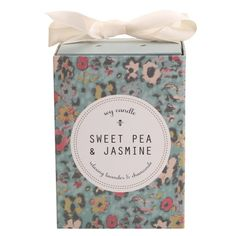 This sweet packaging reminds me of Liberty of London fabrics. Too bad the candle is boring.