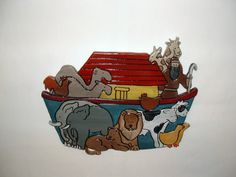 Noah's Ark Wood sculpture Wall Decor This by Galleryatkingston