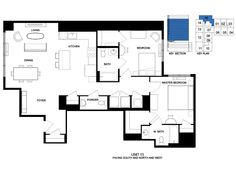 LUXE LIVING Unit Type 15  2 BED, 2.5 BATH +/- 1,326 SF FACING SOUTH, NORTH & WEST