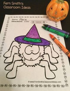 Ferns Freebie Friday FREE Mixed Subtraction Halloween Quick Easy Center And Printable