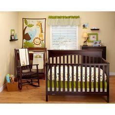 Fisher-Price Safari Baby 8-Piece Crib Bedding Set