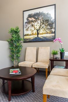 Williamson County Chiropractic - Office Design and Space Planning Waiting Room Decor, Waiting Room Design, Office Waiting Rooms, Waiting Area, Doctors Office Decor, Medical Office Decor, Office Reception Area, Reception Areas, Space Planning