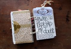 #Art #journal #smashbook #lettering   besottment by paper relics: journaling