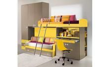 Designer Italian kids bedroom. I'll sleep up top and keep the bottom bed as a spare for sleepovers.