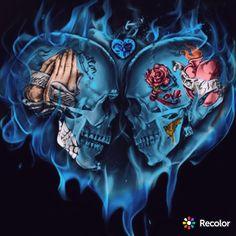 Dark Background Wallpaper, Dark Backgrounds, Clown Tattoo, Skull Tattoos, Chicano, Sugar Skull Art, Sugar Skulls, Skull Wallpaper Iphone, Air Force Tattoo