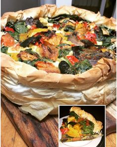 Yummy chunky vegetable quiche!