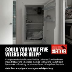 #IDS believes we must wait more than five weeks before receiving benefits after losing our jobs - #SavingOurSafetyNet ! Please #share this and help us get this cruel new rule stopped at: http://savingoursafetynet.org/  On Facebook: https://t.co/POgfAA71DM Add us on Twitter: https://twitter.com/DoleQueueUnite Our Online Daily #NewsPaper: http://paper.li/DoleQueueUnite/1376663965 email: respect_unemployed@ovi.com