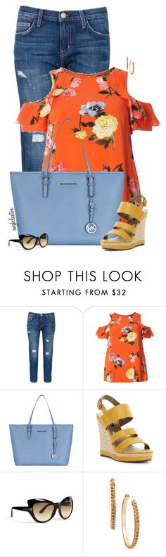 """""""Summer Brights"""" by angkclaxton ❤ liked on Polyvore featuring Current/Elliott, Dorothy Perkins, Michael Kors, Michael Antonio, Tom Ford and Bar III"""