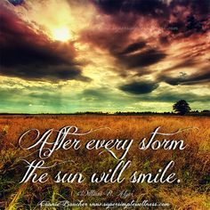 """After every #storm the #sun will #smile."" William R. Alger #smiling #happiness #inspiring #weatherthestorm #lookforthesunshine #inspirational #motivation #motivationmonday #inspiration #ConnieBoucher #SuperSimpleWellness #author #essentialoils #health #chakra #wellness #choosehappiness"