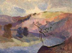 George Douglas Haig (1918–2009), Gateheugh. Oil on canvas, 96.5 x 130.1 cm