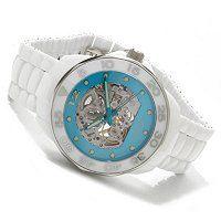 606-881 - Android Men's or Women's Divemaster Automatic Skeleton Ceramic Bracelet Watch