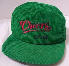 Vintage Cheers Green Corduroy Snapback Hat Cap Boston Pub Bar Tavern TV Show USA | Clothing, Shoes & Accessories, Men's Accessories, Hats | eBay!