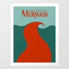 The Little Mermaid Art Print by Citron Vert - $15.00