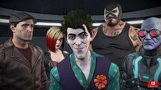 John Doe ( joker ) , Harley quinn, mr Freeze , Bane , and Bruce Wayne in Batman the enemy within episode 4 ( What ails you? Batman Universe, Dc Universe, Game Character, Character Design, Batman Telltale, Dc Comics, Bob Kane, The Enemy Within, John Doe