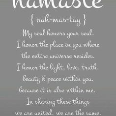 Namaste ✌️ #namaste #love #peace #universe #respect #positivevibes #you #me #energy #vibes #goodvibesonly #soul #quote #affirmation #mindfulness #awareness #mind #body #spirit #one #alignment #vibration #sunday #spirituality #spiritual #honor    #Regram via @thatjenngrl