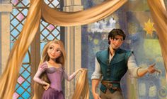 Disneyland. Fantasyland. Rapunzel and Flynn Rider. Height: Any Height Ages:Pre-schoolers, Kids, Pre-teens & Teens, All Ages        Have a brush with Rapunzel and Flynn Rider from Tangled, the Walt Disney Pictures film.