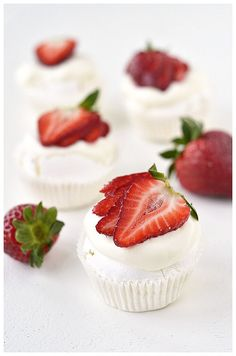 Mini-pavlovas with first strawberries this year | Flickr - Photo Sharing!