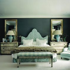 Love the chests for night stands. great color combo.