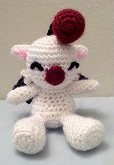 Crochet Mini Moogle Amigurumi Doll - Stuffed/Plush Toy