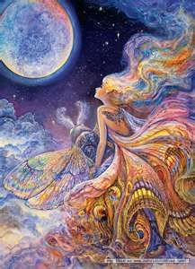 Josephine Wall jig saw puzzle 'Fly Me To The Moon'