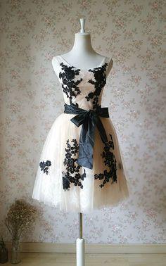 Ivory Bridesmaid Dress Lace Tulle Bridesmaid by Dressromantic Short Summer Dresses, Short Lace Dress, Dress Lace, Lace Maxi, Long Dresses, Maxi Dresses, Dress Prom, Ivory Bridesmaid Dresses, Wedding Dresses
