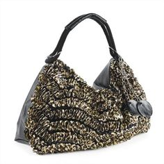Minerva Collection Animal Print Slouch Shoulder Handbag Black / Brown  Price : £24.00 http://www.minervacollection.com/Minerva-Collection-Animal-Shoulder-Handbag/dp/B009Y8WRSW