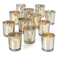 $19.95 - for one dozen Votive Cup Set - Silver from Z Gallerie    6 orders = 72 about 4 each for 20 tables $119.70