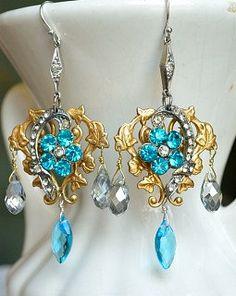 Azure Blue Earrings by TresChicTresor on Etsy, $65.00