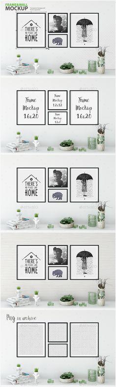 Frame & Wall #Mockup 07 - Posters Print