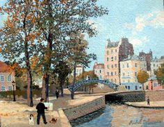 Michel Delacroix, Au bord du Canal St. Martin,