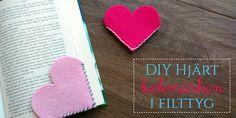 Läs mer på vår blogg hur du gör filt bokmärke https://labelsandribbon.se/blog/diy-hjart-bokmarken-filttyg #namnlappar #namnband #diy #crafts #gördetsjälv #bokmärke