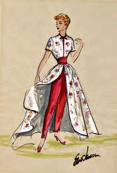 """I Love Lucy"" Costume Sketch by Elois Jenssen 
