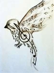 Bird Music Tattoo Art this is a need not a want..