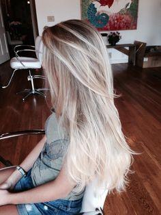 Blonde hair dark roots