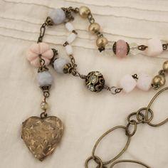 Andrea Singarella's vintage repurposed jewelry.