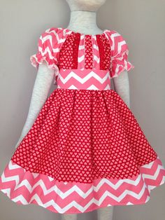 Size 4t......Valentine Heart Dress.....Made and by LevonaDanielle